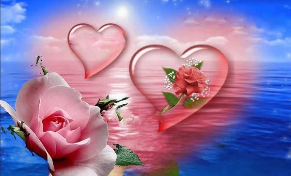 Coeurs et roses