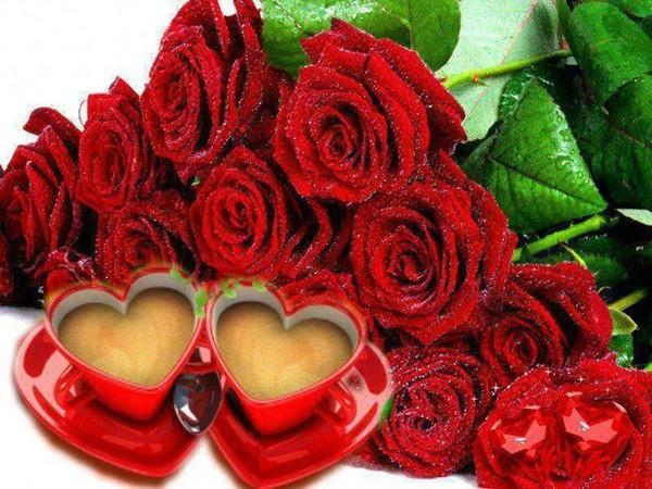 Café et roses