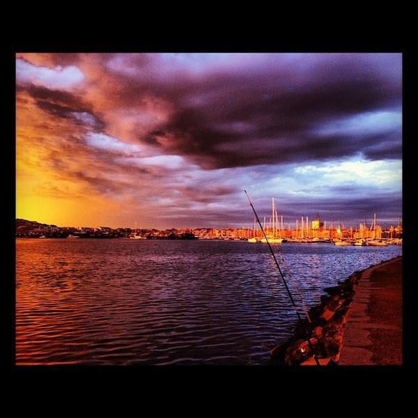 Coucher de soleil  au Cap d'Agde (photo d'une cousine)